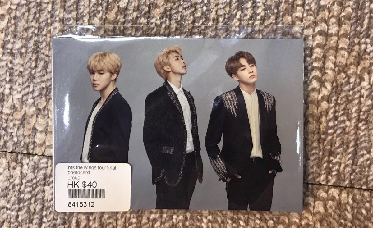 The wings final photocard $40