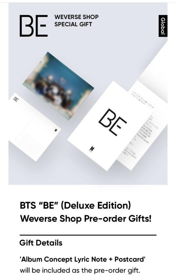 BTS BE Album Deluxe (instock)