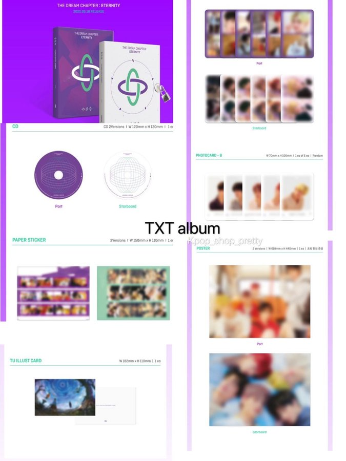 TXT (The Dream Chapter : Eternity ) $145 現貨