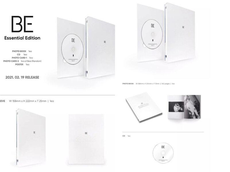 BTS [ BE ] Essential Edition album ( instock)
