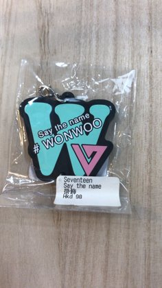 SAY THE NAME ( WOOZI ) KEYRING